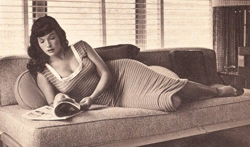 Bettie Page reading
